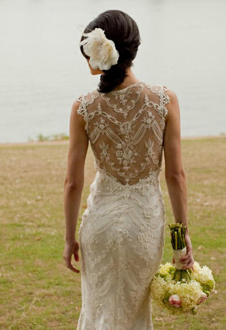Unique Lace Wedding Dresses : Romantic twist with unique lace back wedding dresses fashion g
