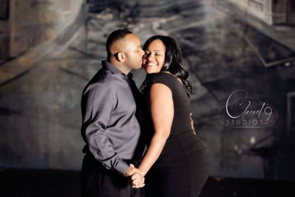 Engagement shoot by Cloud 9 Studios in Downtown,  Jacksonville, FL