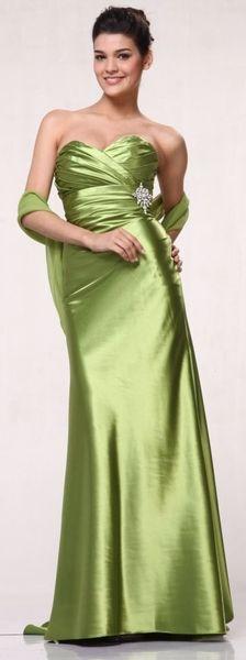 green bridesmaids dress