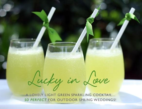 Green Wedding Signature Drinkss