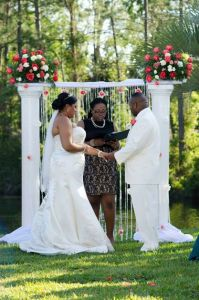Ceremony with diy decor